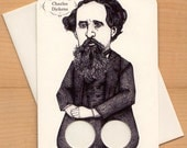 Charles Dickens - Finger puppet Greeting card