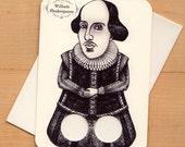 Shakespeare - Finger puppet Greeting card