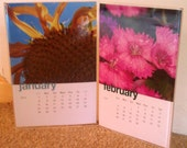 New Year SALE - 2012 Framed Flower Desk Calendar