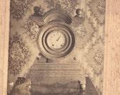 SALE Vintage Photograph Time Clock