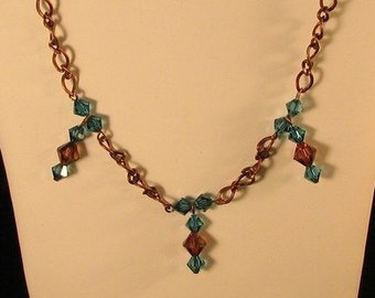 Copper Bling Necklace