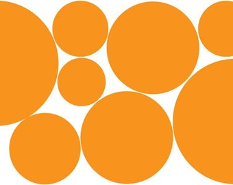 Orange Wall Decals Dots (Repositionable) Stickers
