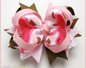 M2MG Sweeter Than Chocolate Layered Boutique Bow