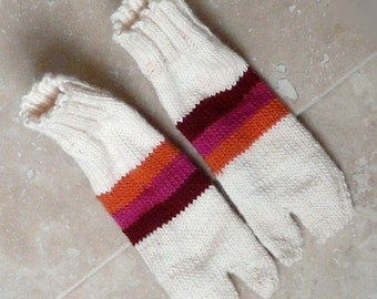 Knit Tabi Socks - Sunset Sundae - Small