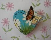 Gandhi Inspired Heart Butterfly Magnet