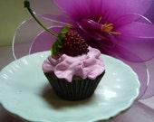 Mini Pink Berry Faux CUPCAKE