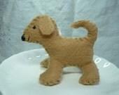 Mini Light Brown Felt Dog