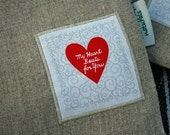 Organic Linen Sandwich Bag---My Heart Beats For You