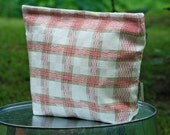 Large Vintage Linen Tea Towel  Lunch-Sandwich---Storage Bag Lined