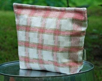 Large Vintage Linen Tea Towel  Lunch-Sandwich---Storage Bag Lined