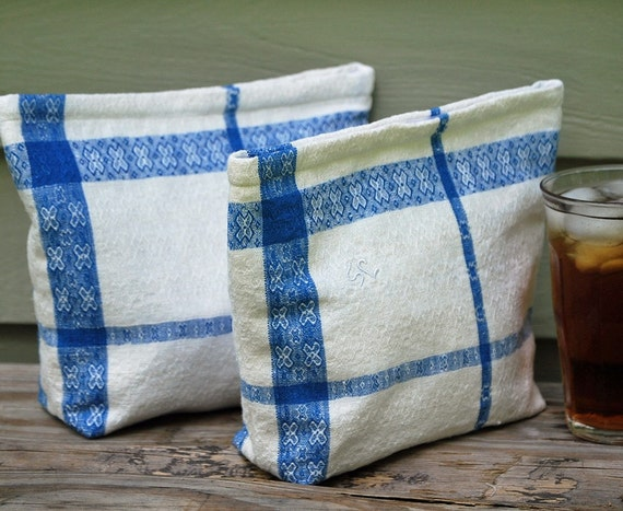 Vintage Cloth Sandwich\/Snack Bags with Food Safe Liner 2 BAGS