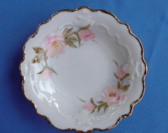 Hand Painted Roses on a Porcelain Serving Dish