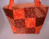 SALE - Reduced Price - Large Bag in Brown and Orange