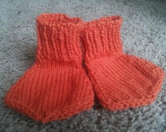Hand knit orange duck feet made to order