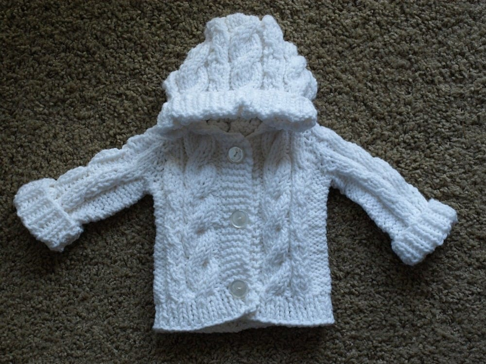 Knitting Sweater For Baby : Cable knit sweater baby tunic