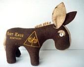 Vintage Stuffed Mule Army Fort Knox