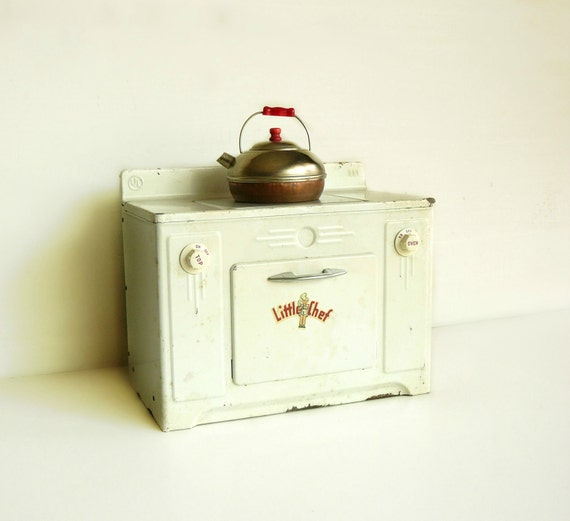 Vintage Toy Stove Metal Little Chef