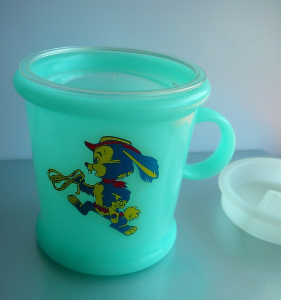 Vintage Durabrite Tommee Tippee Sippy Cup with Original Box