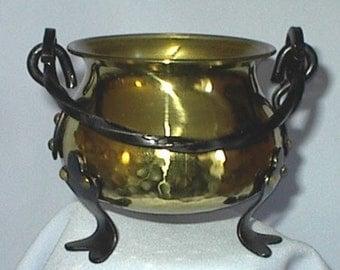 Vintage German Brass Little Cauldron Witch's Pot Wiccan