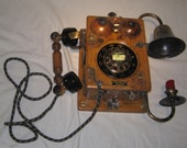 Steampunk Phone  - Working Reproduction Wall Phone  - Sold
