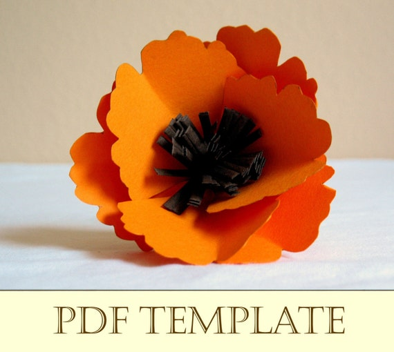 how to make a poppy flower out of paper