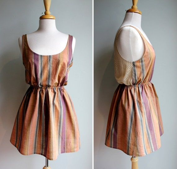 RESERVED for christy  Trapese Striped Sundress