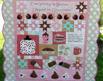 Chocolate Bliss Quilt Pattern