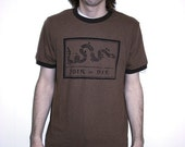 Black on Brown JOIN, or DIE Men's Medium