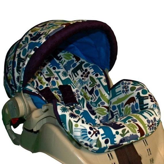 custom infant car seat cover zoo. Black Bedroom Furniture Sets. Home Design Ideas