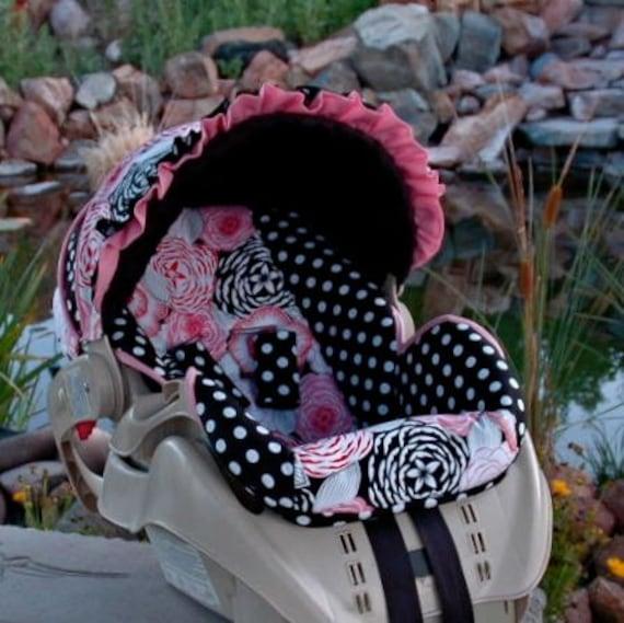Graco Snugride Custom Infant Car Seat Cover- Veronique Pink -