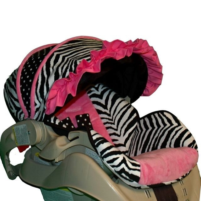 graco snugride 22 custom infant car seat cover pink zebra. Black Bedroom Furniture Sets. Home Design Ideas