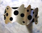 Swiss Cheese Bracelet- Sterling Silver, Metal Work