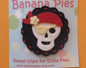 Girlie pirate hair clip