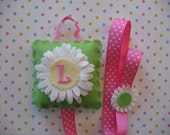 Monogramed Hair Clip And Bow Holder