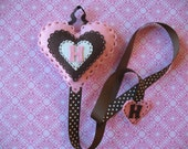 Monogramed Heart Hair Clip And Bow Holder