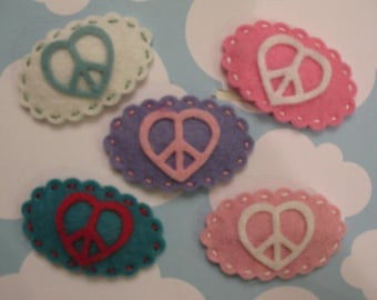 U Pick Peace Love Hair Clip