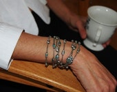 Womens Sterling Silver Chain and Turquoise Bracelet   The Cleopatra