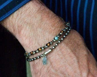 Sterling Cuff Bracelet   The Forever Bracelet  Mens or Womens Sterling Silver Bracelet, Semi Precious Stones - Customize, Sterling Bracelet
