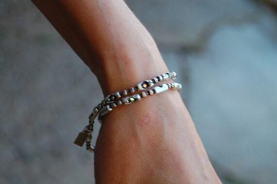 Swarovski Sterling  Chain Necklace | The Aurora | Womens beautiful Swarovski Crystal bracelet, necklace or anklet