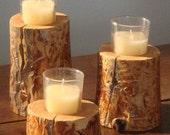 15 lodgepole pine candleholders