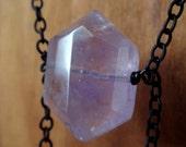 Amethyst Hexagon Tendrils Necklace