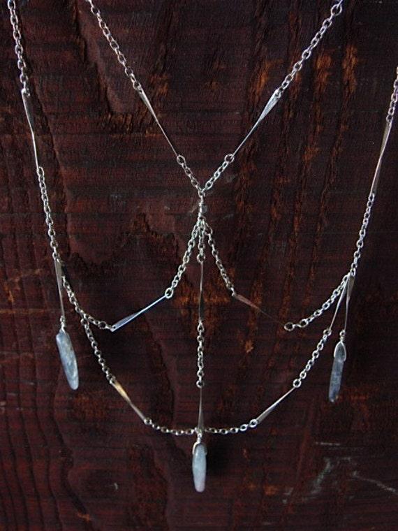 Kyanite Web Necklace