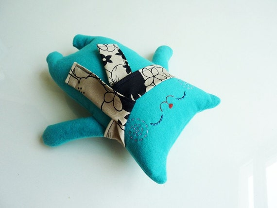 Cat Plush - Mr.Oto with scarf - Etsy Project Embrace