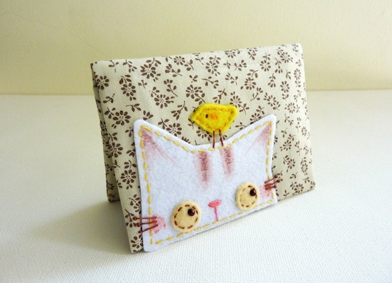 Spring Kitty card case