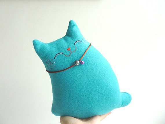 Cat Plush, Cat toy, Cat doll, Plush - Turquoise Baby - Etsy Project Embrace