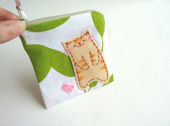 Coin Purse - Spring Kitty