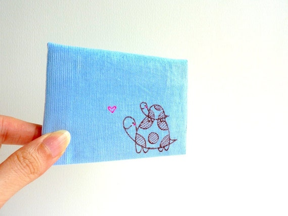 Card case, ID Card Case, Business Card Case - Cute turtles with love