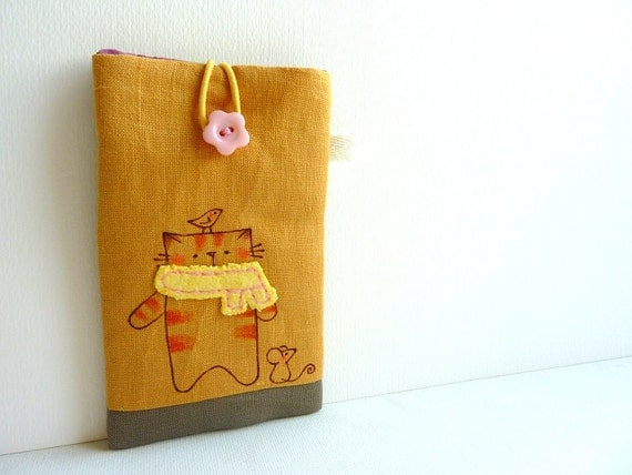 iphone Sleeve - Cat with scarf
