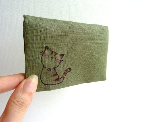 Card Case, ID Card Case, Business Card Case - Sweet Kitty