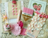 pretty pink -  6 x 6 papers and assorted vintage trims - no 121